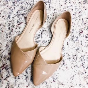 CHINESE LAUNDRY • Nude Patent Pointy Toed Flats 11